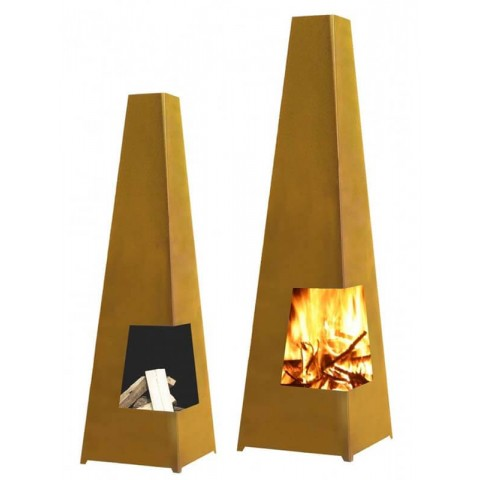 Chacana Large Corten Steel Wood Chiminea