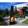 Nevados XL 150cm Black Steel Chiminea