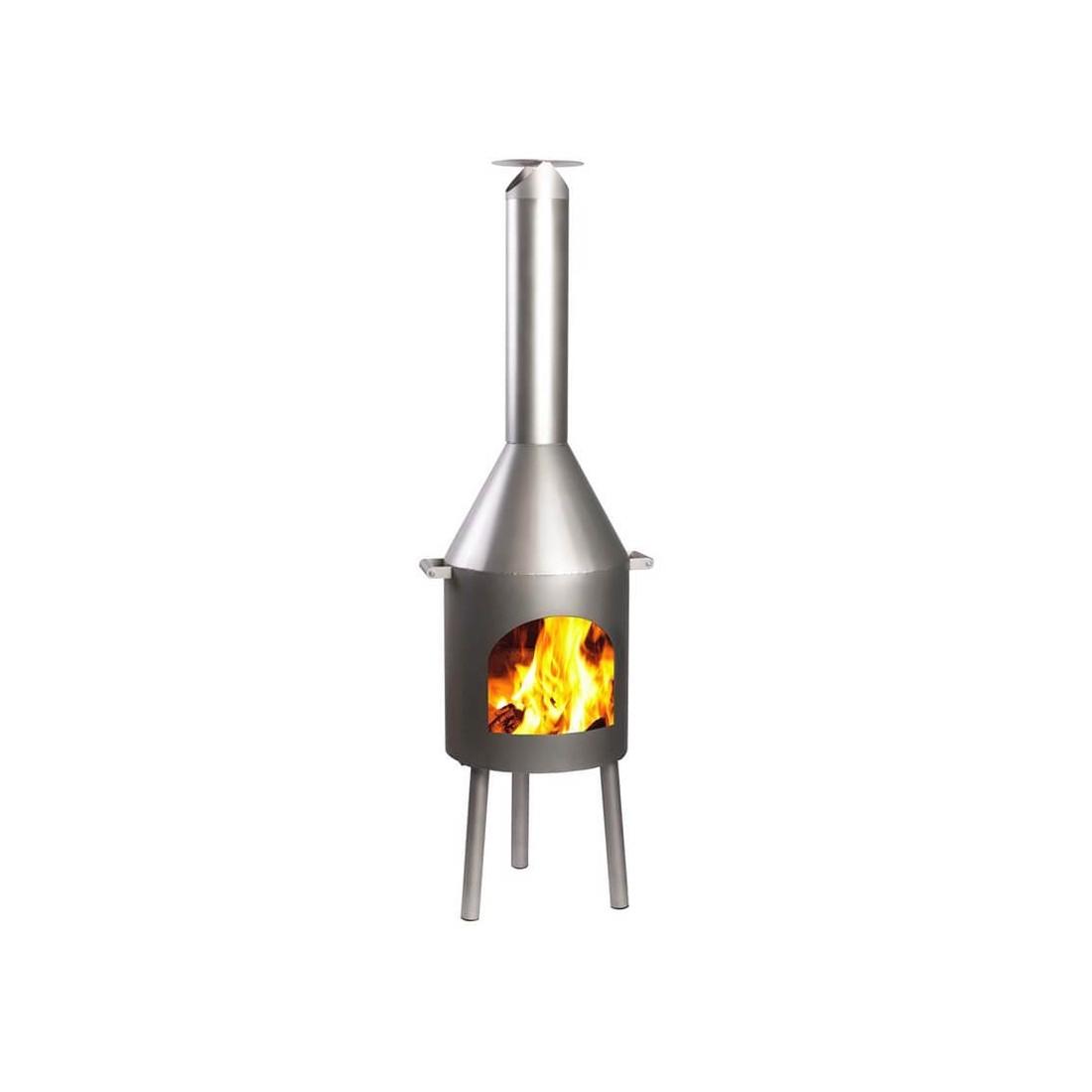 On Sale Extra Large Inox Stainless Steel Chiminea Heater