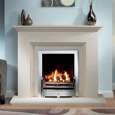 Cranbourne 44'' Limestone Fireplace