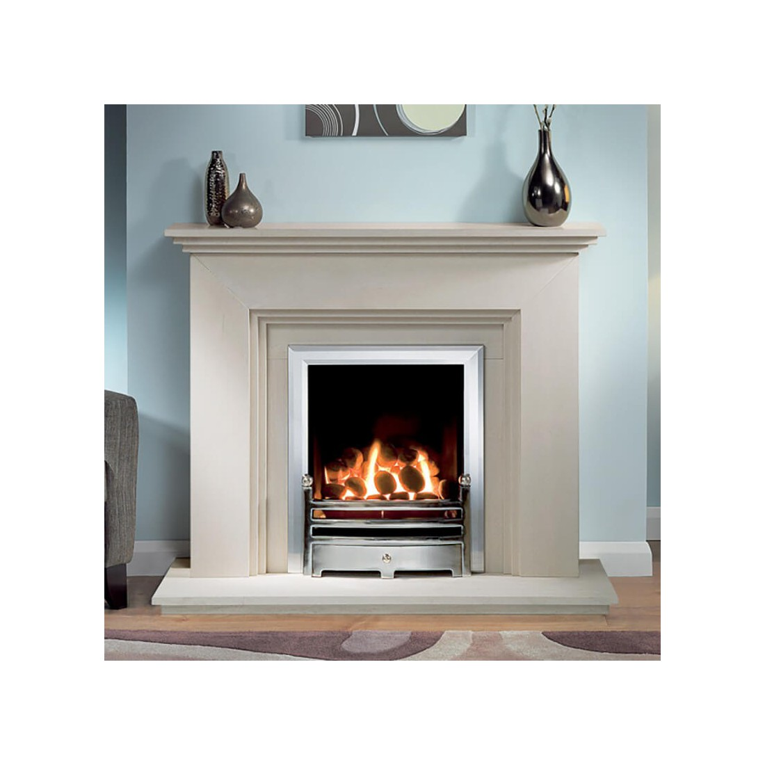 Cranbourne Portuguese Limestone Fireplace In Stock Fireland Co Uk