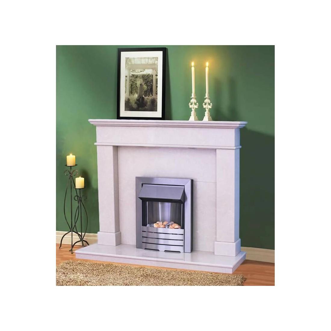 Balmoral Portuguese Limestone Fireplace Fireland Co Uk Free Delivery