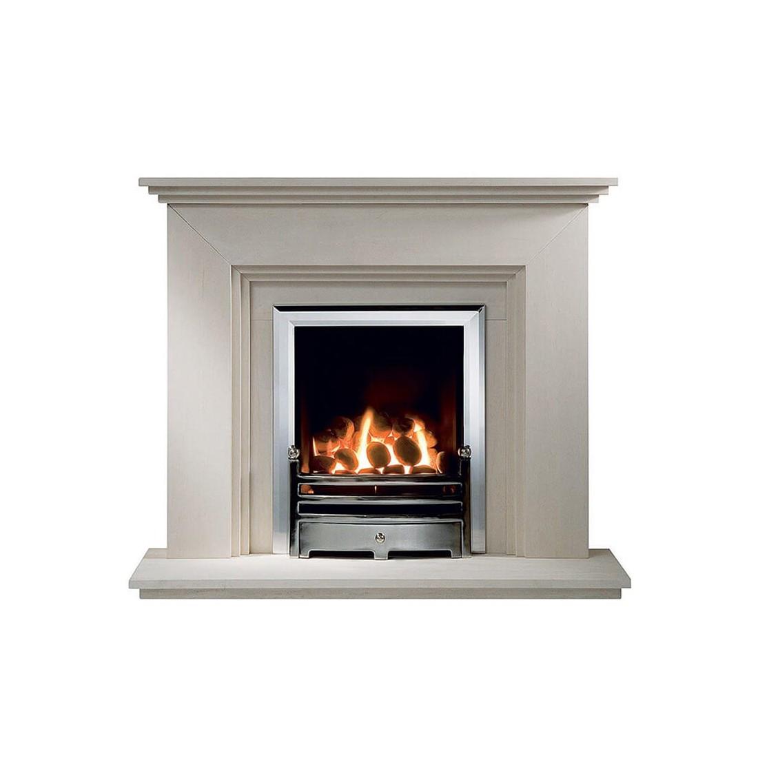 Cranbourne Limestone Fireplace Suite With Electric Firefirelandcouk