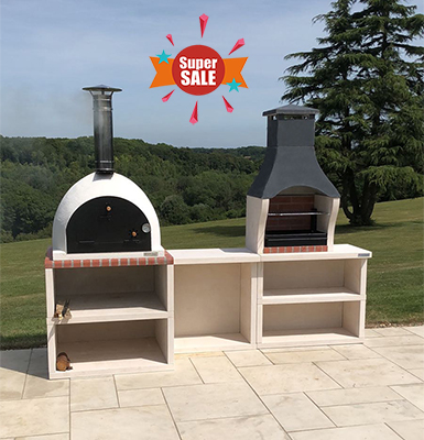 Outdoor Kitchen pizza oven como barbecue